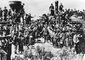 Promitory Point Utah where the east and west railroad builders met