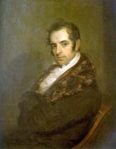 Portrait of Washington Irving in 1809. John Wesley Jarvis, artist.