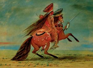 Crow Chief- painted by George Catlin