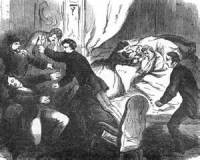 Newspaper illustration of the attack on Seward