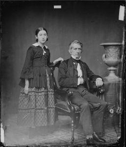 Fanny Seward with her father William Seward, United States Secretary of State