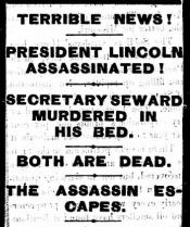 Newspaper headline mistakenly reporting Seward as dead