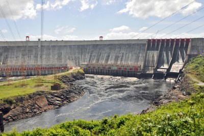 El Guri Dam and Simon Bolivar electrical generating station.
