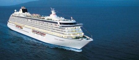 Crystal Serenity at sea.
