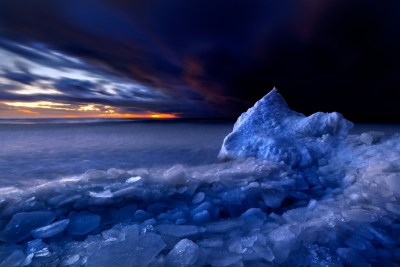 Arctic Ocean at sunset