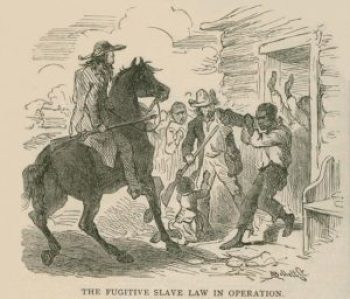 US Fugitive slave captured by law enforcement. Dana represented fugitive slaves pro bono, at no cost to the fugitive.