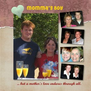 another new year collage of bereaved mother and son