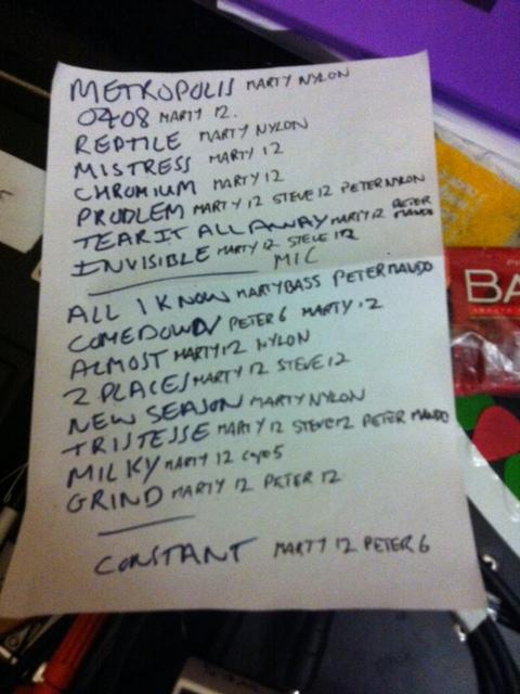Church set list