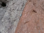 close up of the fault zone