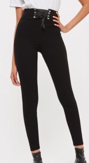 Top Shop TALL Corset Lace Up Leggings: $50
