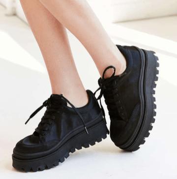 Jeffrey Campbell Satin Platform Sneaker: $105