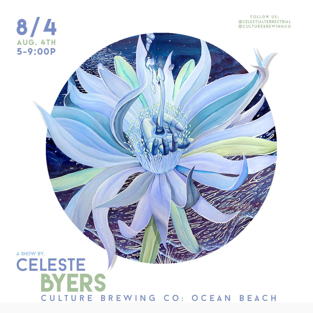 Celeste Byers Art Show at Culture Brewing OB