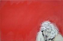 Schmerz II - Öl , Lwd, 40x60, 2015 von R.F. Myller
