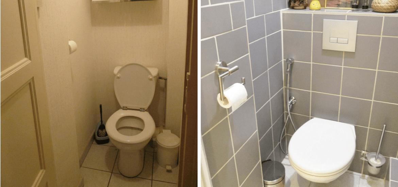 Avant/Après: Rénovation d\'un petit WC | Listes & Check-lists