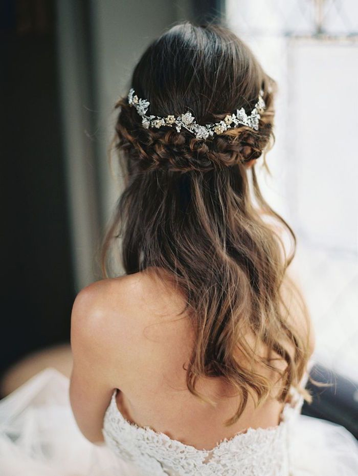 Wedding Hairstyles Half Up Half Down Wedding Hairstyle With Pretty Hairpieces Listfender Leading Inspiration Magazine Shopping Trends Lifestyle More