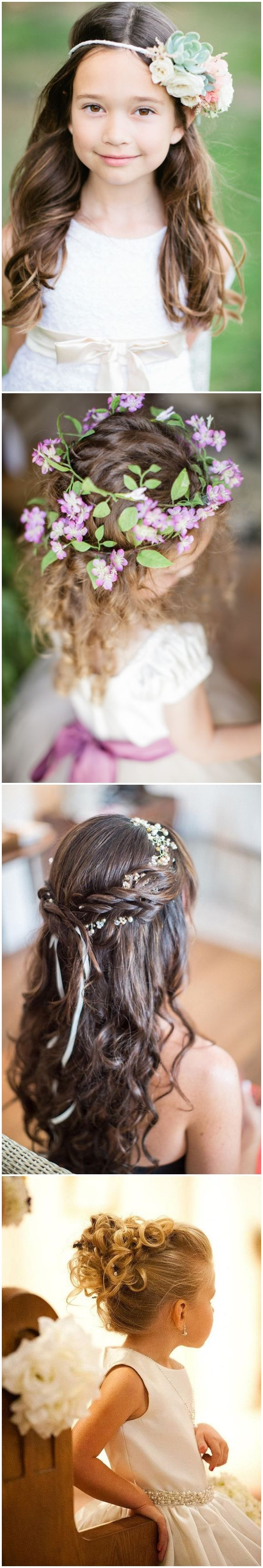 wedding hairstyles : cute little girl hairstyles-updos
