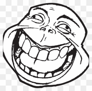 Big Open Mouth Troll Face Funny Meme Face Png Clipart 353799