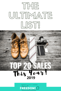 top 20 sales of 2019