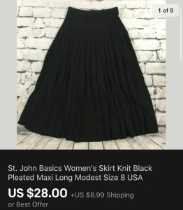 St John Skirt Sold On eBay