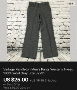 Vintage Pendleton Pants Sold eBay