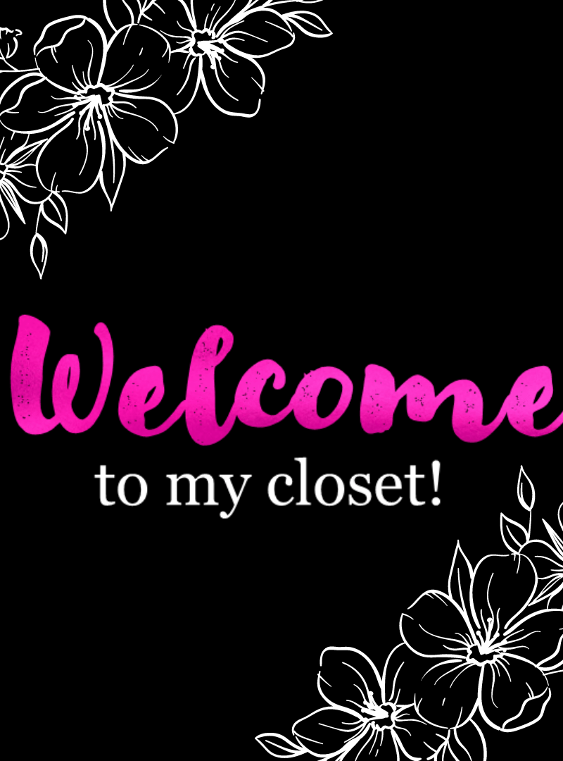 Poshmark Closet Signs (Set of 39) – Black Pink Floral Instant Download