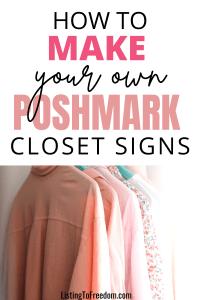 make poshmark closet signs