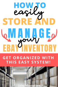 Manage And Store eBay Inventory