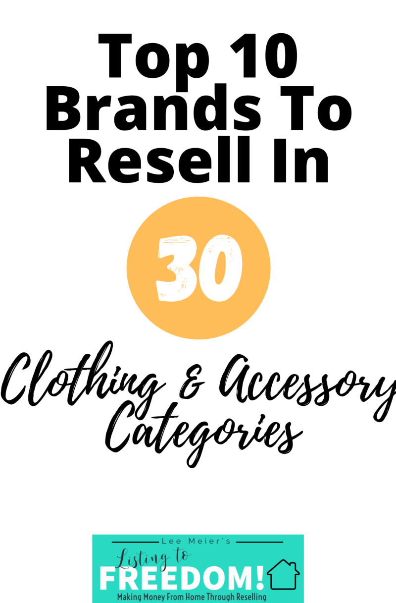 Complete List of Top Clothing Brands To Resell