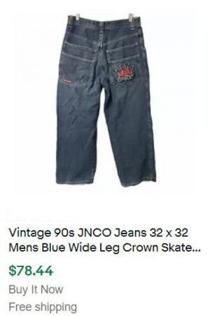 selling vintage clothes - JNCO Jeans