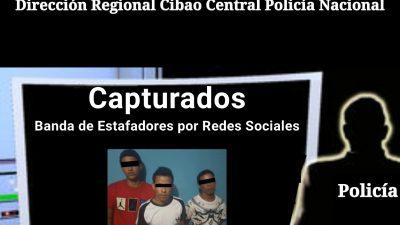 POLICÍA APRESA EN SANTIAGO INTEGRANTES DE BANDA ESTAFABA POR LAS REDES SOCIALES.-