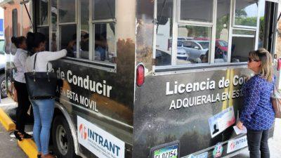 INTRANT informa localidades en las que ofrecerán servicios de licencia en noviembre