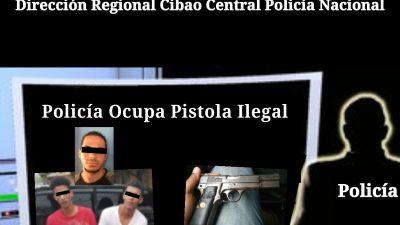 POLICÍA OCUPA ARMA DE FUEGO ILEGAL MEDIANTE ALLANAMIENTO EN SANTIAGO.