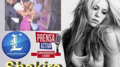 Shakira es captada en video al enfrentar dos seguridad concierto.