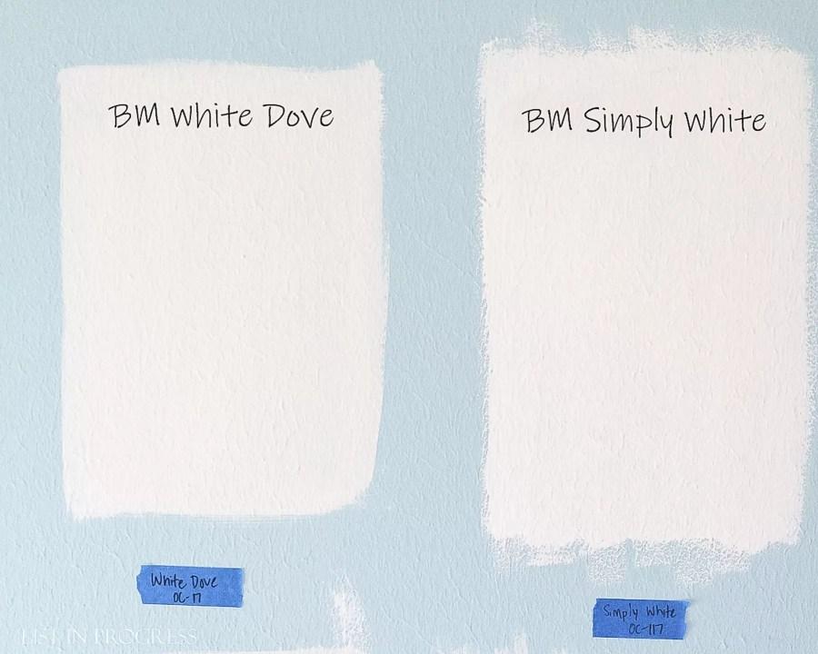 Favorite Behr White Paint Colors List In Progress