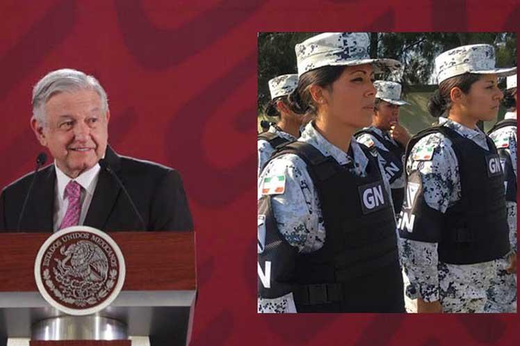 Satisfecho López Obrador por aprobación leyes de la Guardia Nacional