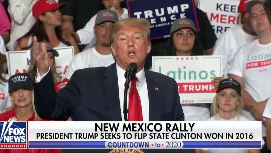 """""""Tenemos muchos hispanos"""": Trump derrocha racismo e ironía en Nuevo México"""
