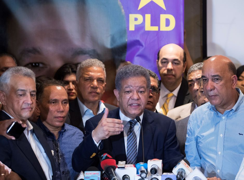 Leonel Fernández denuncia fraude en primarias del PLD; Gonzalo Castillo lidera contienda