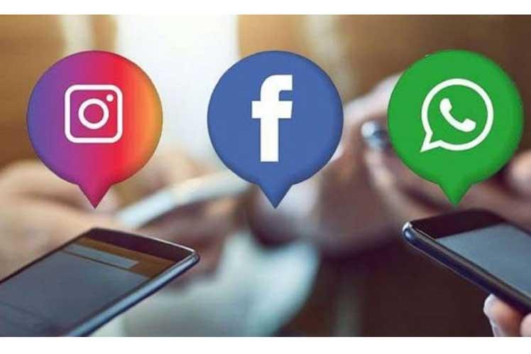 Falla funcionamiento de redes sociales Facebook, Instagram y WhatsApp