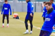 Messi, Suárez, Busquets, Todibo y Wagué se reincorporan a los entrenamientos