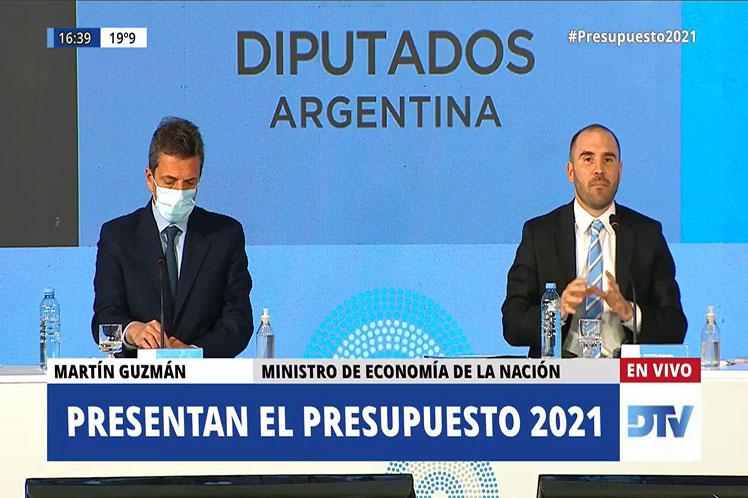 Ministro argentino defiende proyecto de ley de presupuesto 2021