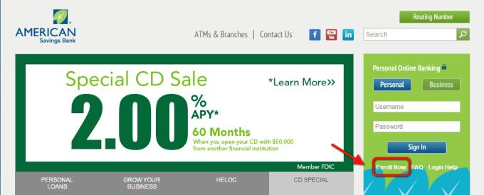 ASB Online Banking Enroll Step 1st