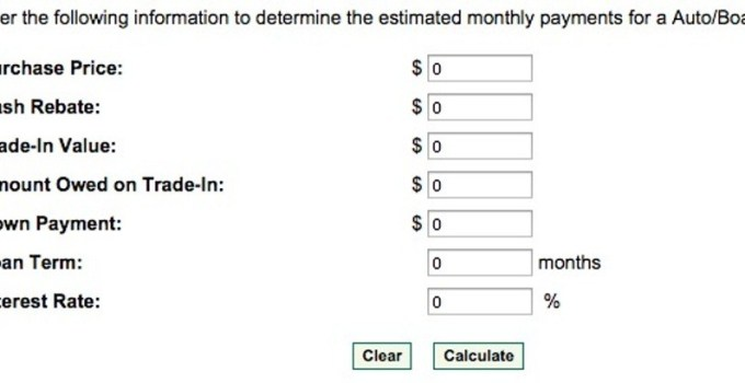 mtb auto loan calculator