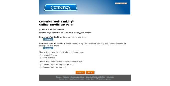 Comerica Bank enroll