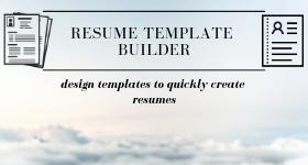 Resume Template Builder