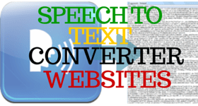 Speech to text converter website