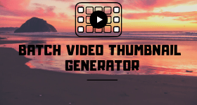 batch video thumbnail generator