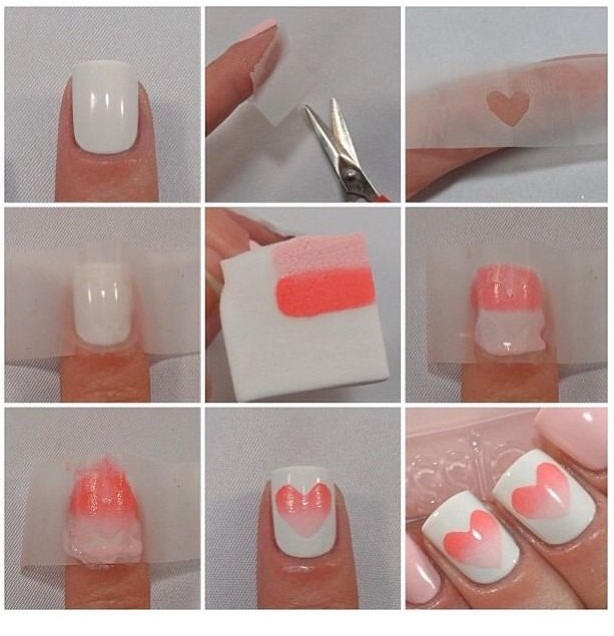 Ombre Hearts On Nails 7588769fe670f59105c7f696c5aae145