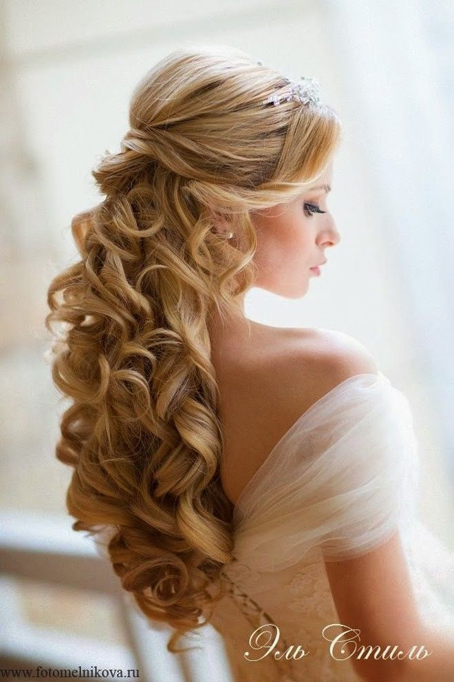 coiffure de mariage 2017 coiffures de mari e pour cheveux longs d tach s. Black Bedroom Furniture Sets. Home Design Ideas