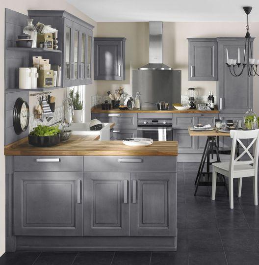 Id e relooking cuisine cuisine style maison de for Maison de campagne en bois