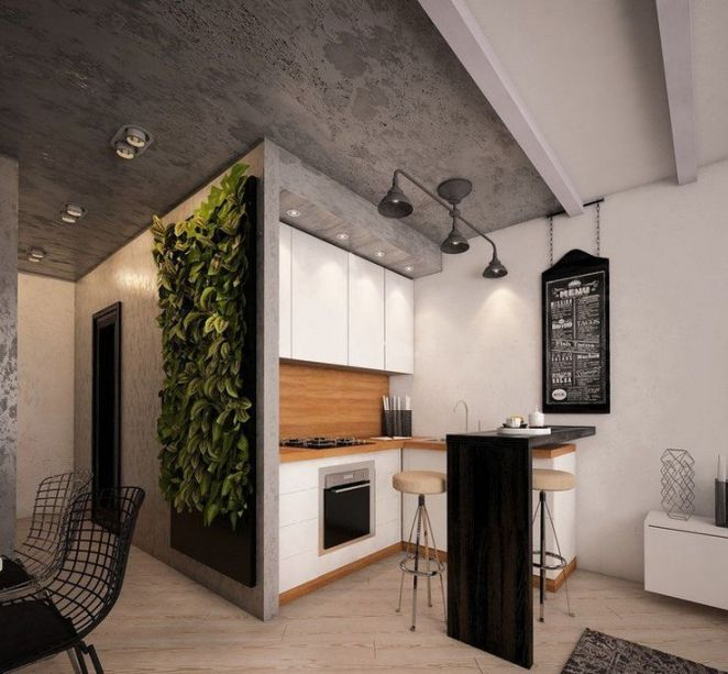 Id e relooking cuisine d co cuisine ouverte sur salon en for Idee deco cuisine ouverte